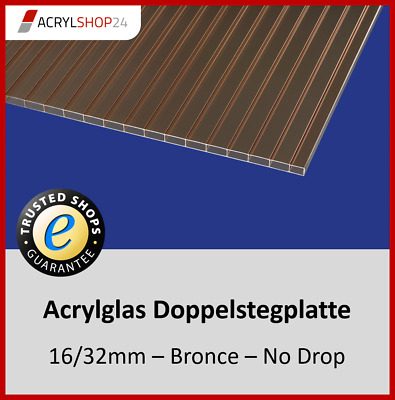 980 mm Breite Polycarbonat* NV Hohlkammerplatten Stegplatten Lichtplatten 16mm