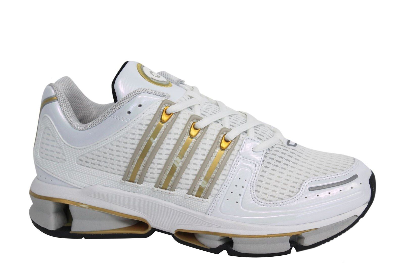 Adidas A3 Twinstrike Lace Up White Gold Synthetic Mens Trainers