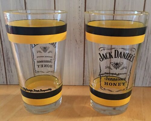 Original Recipe Tennessee Honey Glass Beer Pint Jack Daniels 16oz 2