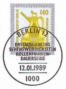 Berlin 1989: Bronze Théière Reinheim Nr 832 Avec Le Ersttags-cachet Spécial! 1a 1609-rstempel! 1a 1609fr-fr Afficher Le Titre D'origine