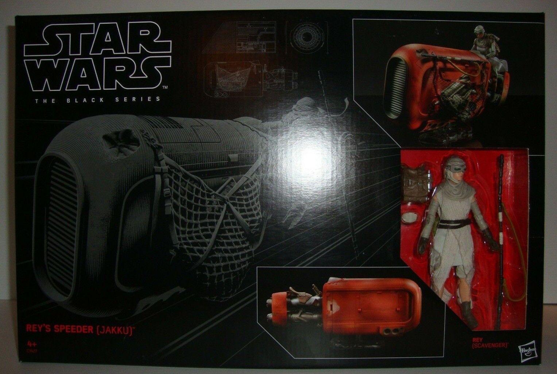 STAR Wars Il NERO SERIE Rey's Speeder (jakku) 6  Action Figure Veicolo Nuovo