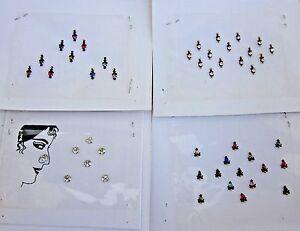 Bindi Indian Gothic Boho Lot 4 Paket Bindi Belly Dance Jewelry Ebay