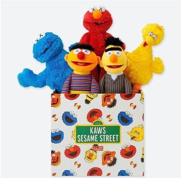 KAWS x UNIQLO x Sesame Street Plush Plush Plush Toys Complete Boxset 2018 Brand New 63cfd3