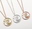 NEW Beautiful Round Cutwork Wave Necklace UK Seller 3 Colours