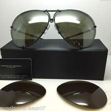 PORSCHE DESIGN P8478 D 6910 69MM MATTE BLACK/OLIVE SILVER LENS 135 V656 E89