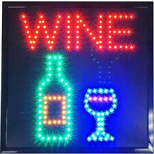 """19x19"""" WINE tasting liquor beer Store Shop Bar Restaurant LED Open Sign neon"""