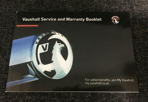 VAUXHALL servizio LIBRO VUOTO Genuine copre tutti i modelli Insignia VXR