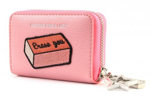 George Gina /& Lucy let her WALLET melting CCS Portafoglio Rosa Patch PINK ROSA