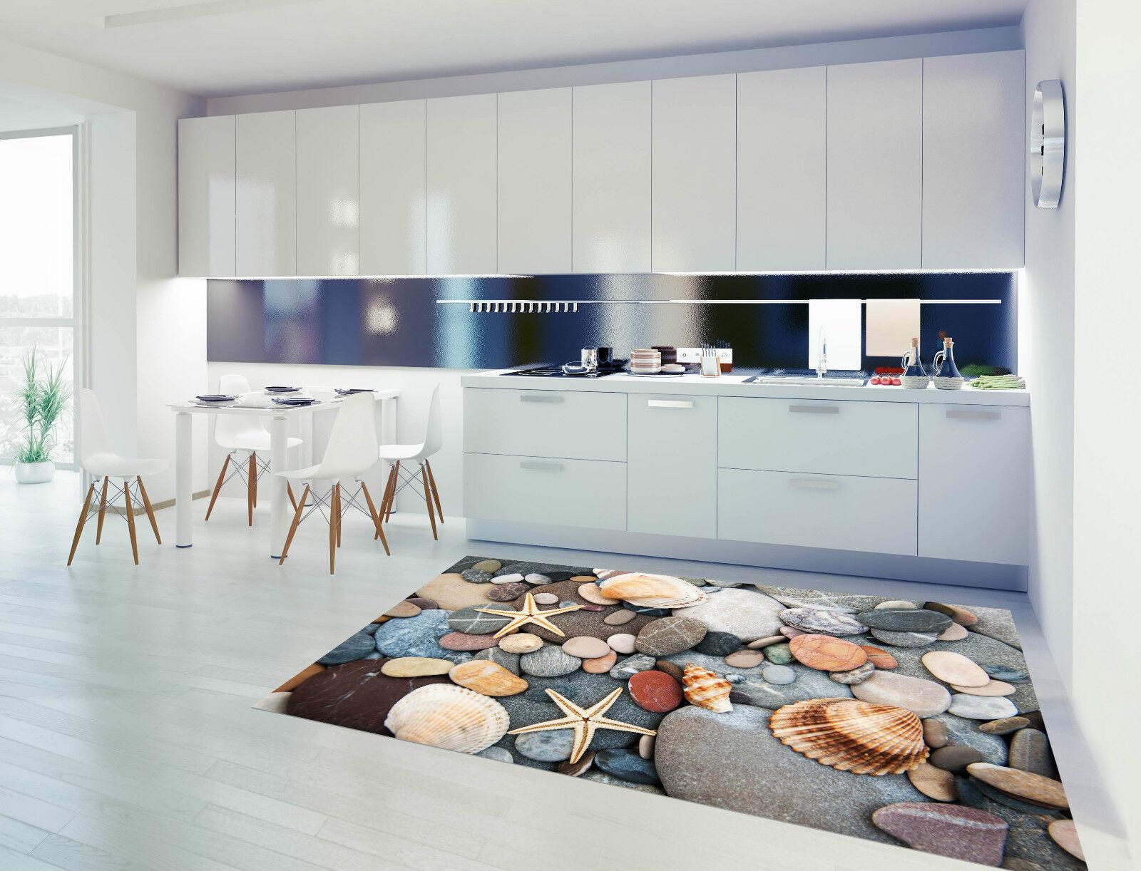 3D Shell Stones 2 Kitchen Mat Floor Murals Wall Print Wall Deco AJ WALLPAPER CA