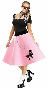 image is loading womens poodle skirt 50s halloween costume grease greaser