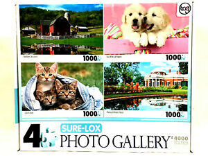 Jigsaw Puzzle 4000 Pieces Photo Gallery 4 Puzzles of 1000 Each Sure-Lox