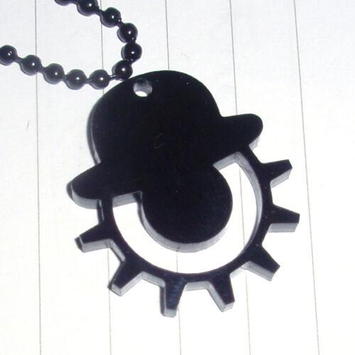 Película Retro Negro Naranja mecánica con el logotipo de encanto collar Kitsch