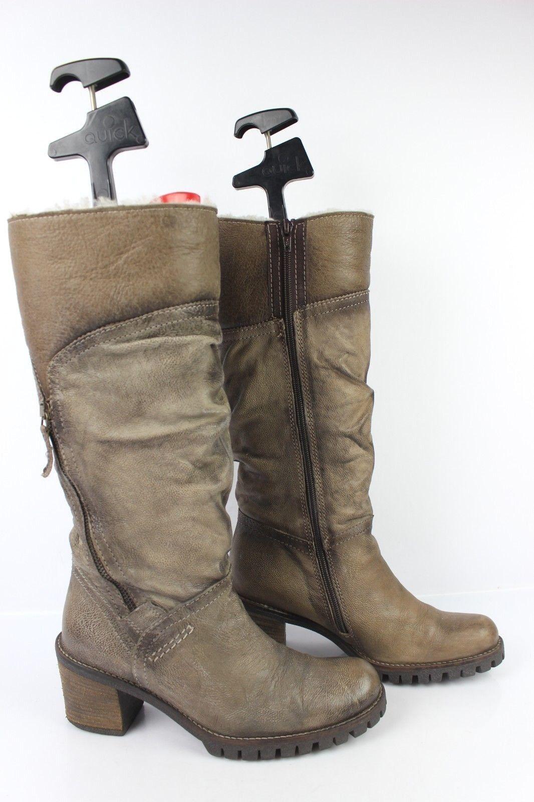 Stivali di pelle Chamois MINKA DESIGN T 38 Condizione Molto Buona