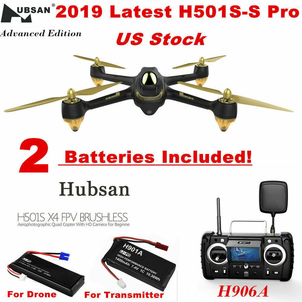 Hubsan H501S Pro Drone 5.8G 10CH GPS RC Quadcopter W  1080P CAM FPV Follow Me US