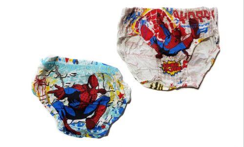 SPONGEBOB Spiderman Minion BOY/'S 3-Pair Pack Cotone Slip Underwear Taglia 5-12