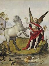 DOMENICO VENEZIANO ITALIAN SAINT JOHN DESERT OLD ART PAINTING POSTER BB5197A