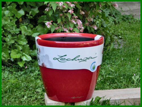 Pflanzgefäß Lechuza CLASSICO PREMIUM 43 LS scarlet rot Komplettset mit Rollen