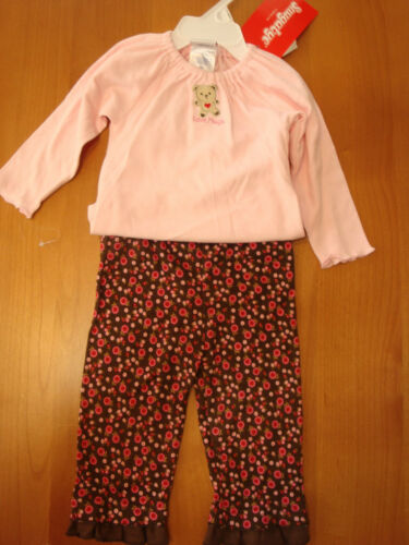 "2PC BABY GIRLS /""LOVES HUGS/"" AND /""MOMMY/'S TREASURE/"" OUTFITS  SIZES VARY  NWT"