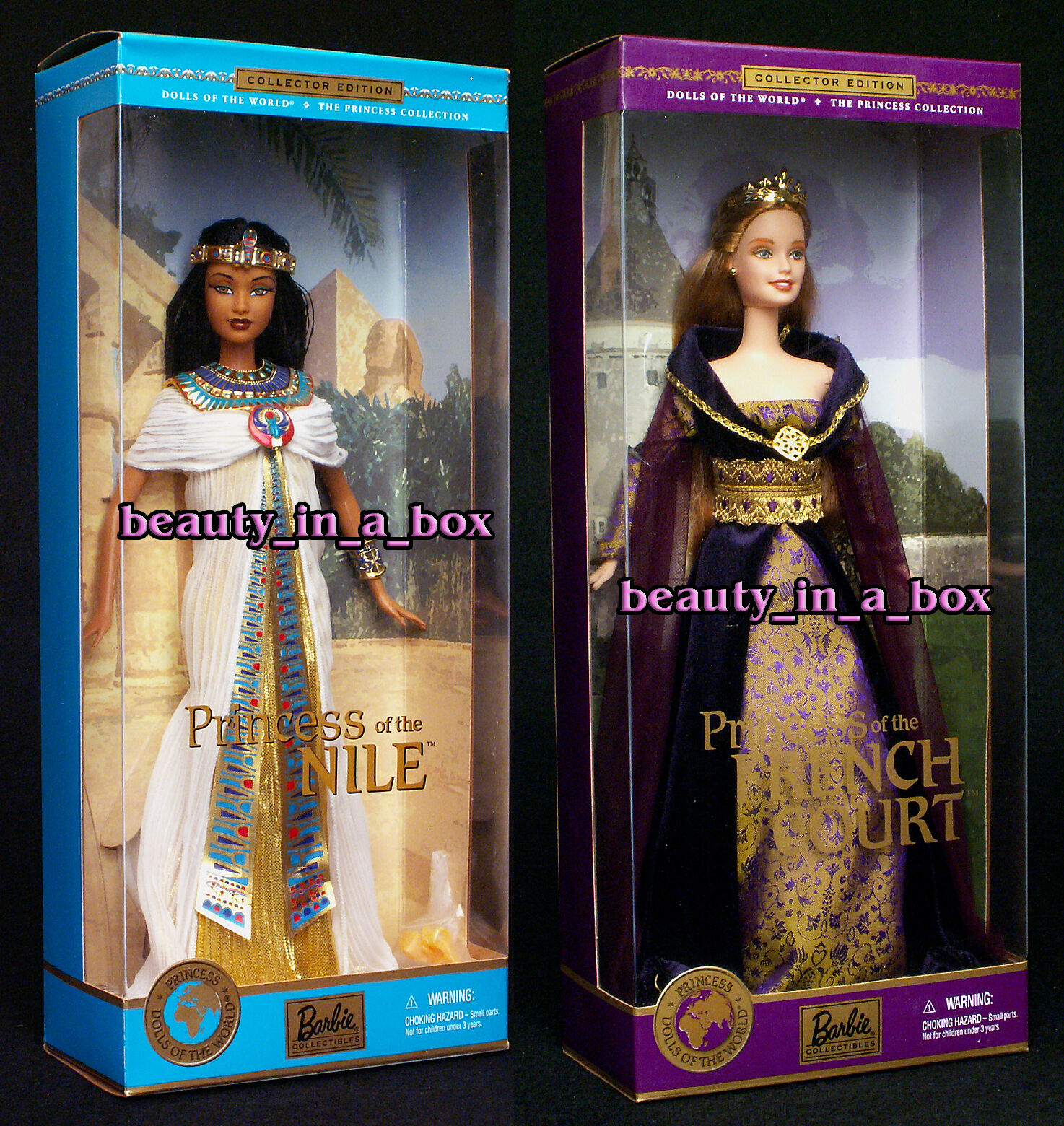 Princesa de la corte francesa & Nilo Muñecas Barbie Del Mundo Muñeca Lote 2