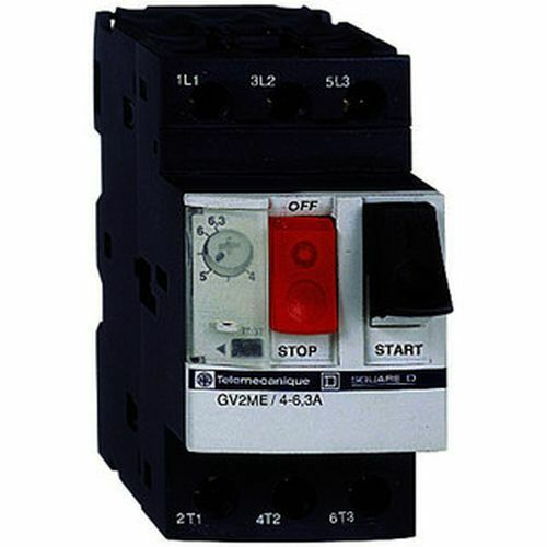 SCHNEIDER ELECTRIC SQUARE D TELEMECANIQUE GV2ME06 3 Pole Circuit Breaker 1-1.6A