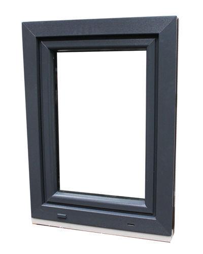 Kellerfenster Aluplast PVC Anthrazit Farbe Aussen 2 fach isolierverglasung Neu
