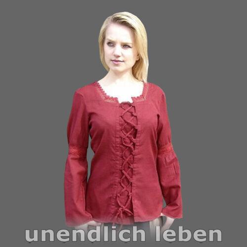Baumwolle Mittelalterbluse Damen Kostüm MITTELALTER BLUSE XS-XXXL 3 Farben