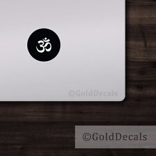 Om - Mac Apple Logo Laptop Vinyl Decal Sticker Macbook Decal Yoga Ohm Peace
