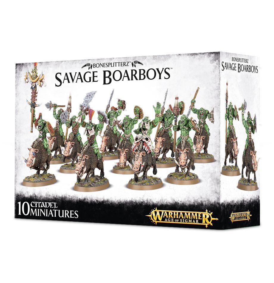 Warhammer Age of Sigmar Orks Savage Boarboy plastic new