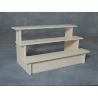 Dolls House Miniatures 1:12th Scale White Shop / Market Stall Shelves (df1466)