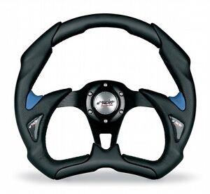 Volante-Auto-Sportivo-EcoPelle-Nero-Azzurro-Simoni-Racing-Fiat-500-126-Epoca