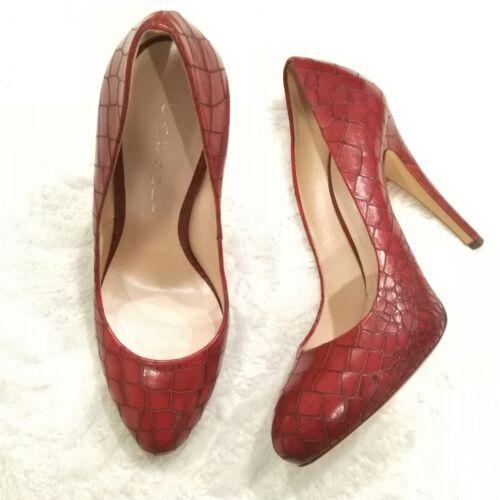 CASADEI Embossed Platform Pumps Heels Shoes Size 8