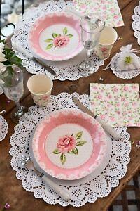 Tischset Platzset 10 St. Spitze Weiß Tischdeko Tortenplatte Hochzeit Geburtstag