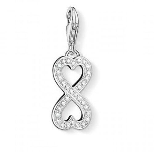 Nuevo Genuino Thomas Sabo conjunto de plata esterlina CZ Corazón infinito de bisutería 1306 RRP £ 59
