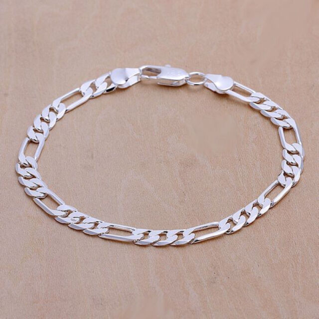 Free shipping wholesale sterling solid silver fashion chain Bracelet XLSB219