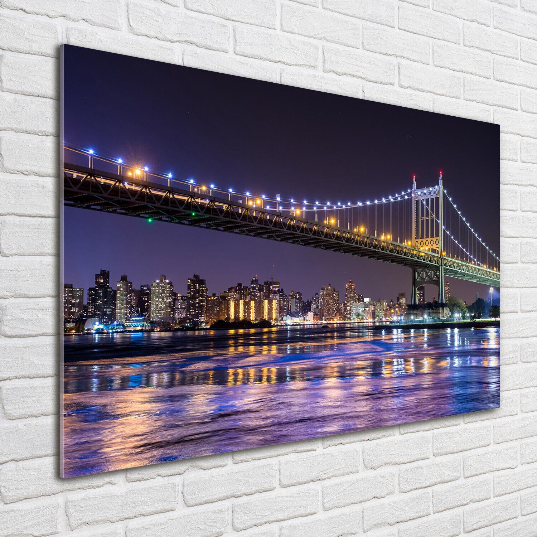 Acrylglas-Bild Wandbilder Druck 100x70 Sehenswürdigkeiten Brücke in New York