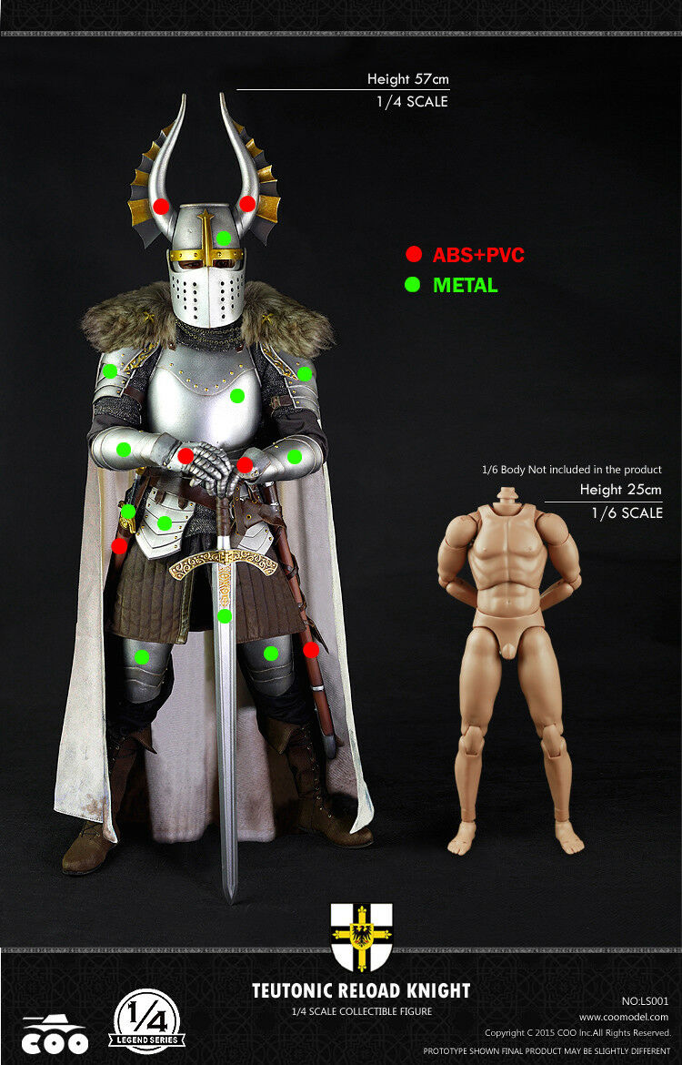 COO Model 1 4 Legend Series Teutonic Reload Knight Action Figure  LS001