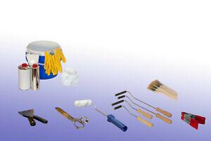 Laminierwerkzeuge, Entlüftungsroller, Laminierrolle, Pinsel, Eimer, Schere, GFK