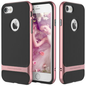 For-Apple-iPhone-XS-X-8-7-Plus-Slim-Shockproof-Hybrid-Hard-Bumper-Rubber-Case