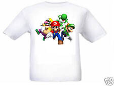 2PCS Super mario run yoshi wario Game Boys Kids Short-sleeved T-shirt Top Pants