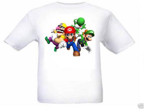 SUPER Mario Luigi Wario Yoshi Kids T Shirt