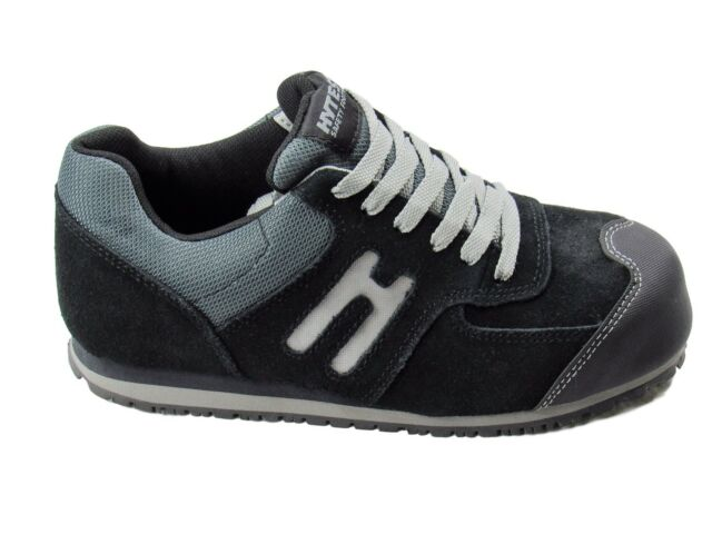 2991dc95d536b HyTest Women's Athletic Oxfords Steel Toes Slip Safety Work Shoes Size 8.5 W