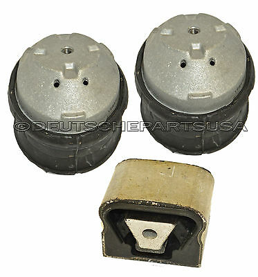 HYDRAULIC ENGINE MOTOR TRANSMISSION MOUNTS for MERCEDES W164 ML GL V8 L+R SET 3