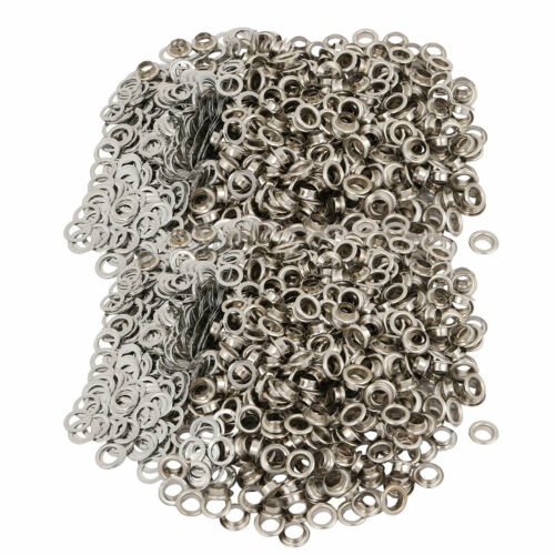 1000pcs 5.5mm Brass Eyelet Grommets Silver Tone for Clothes Leather Canvas