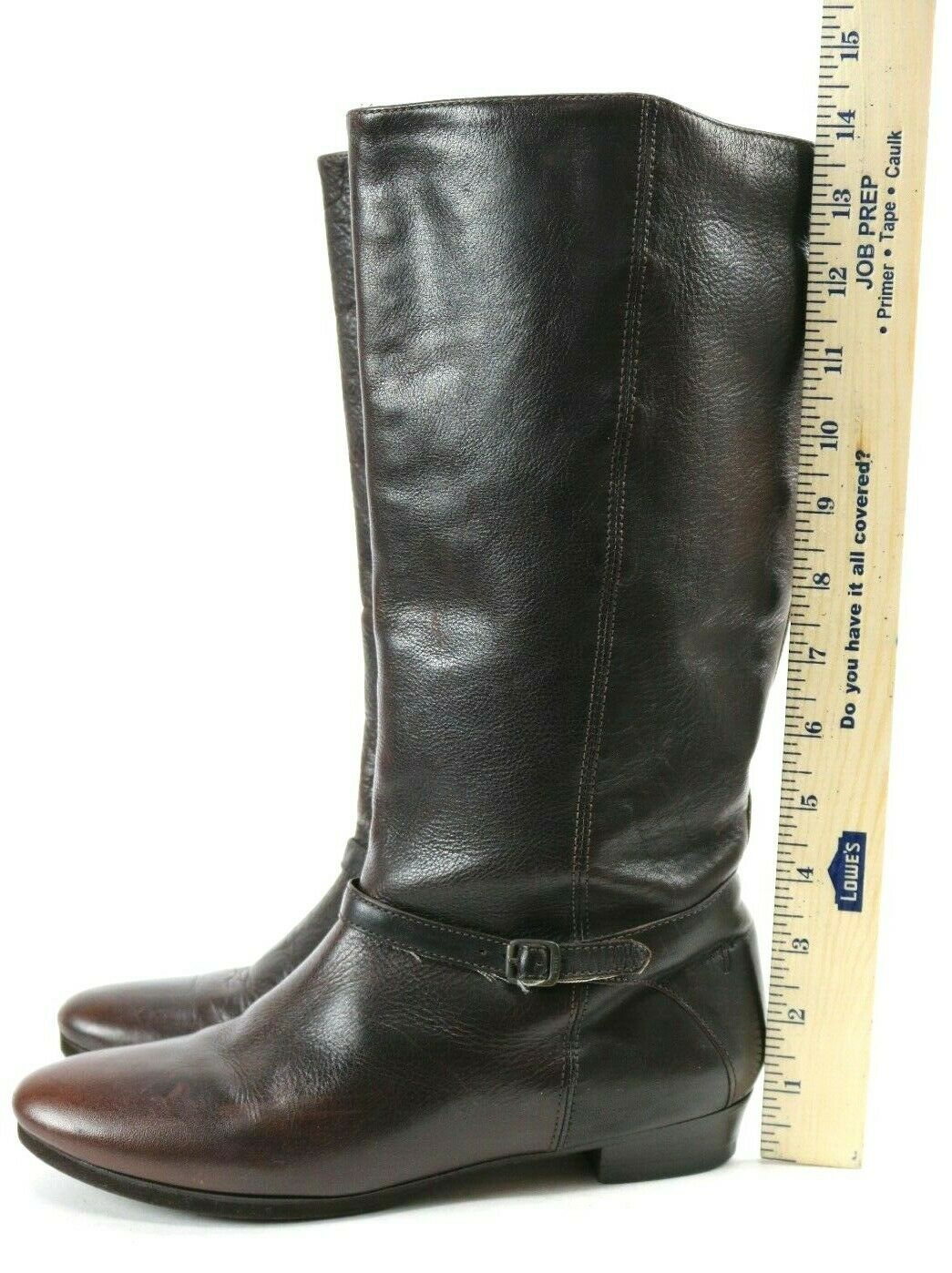 Frye Women's  298 Knee High High High Tall Boots Size 7.5 Leather Brown 107ef2