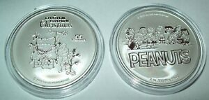Peanuts Charlie Brown Christmas Snoopy 2020 55th year 1 oz .999 Silver Coin New!