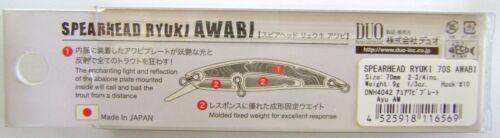 Pêche Appât Truite,Prédateurs, Duo Spearhead Ryuki Awabi 70S Japon Wobbler