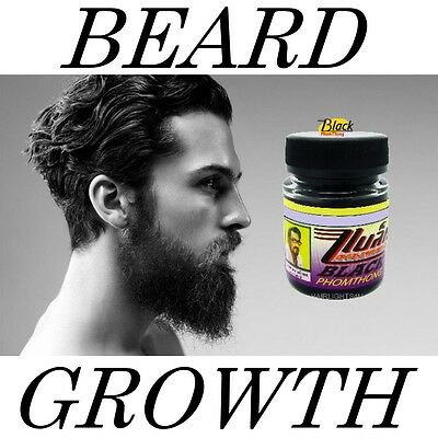 BLACK PHOMTHONG Facial Hair Growth Cream Grow Beard Eyebrow Mustache Sideburns
