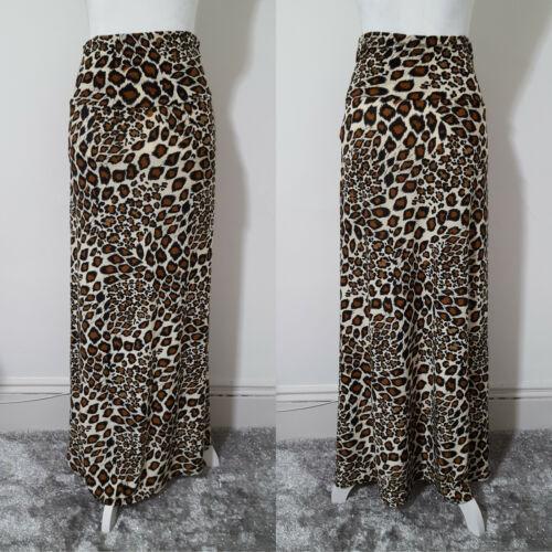 Azules Leopard Animal Print Maxi Skirt Medium