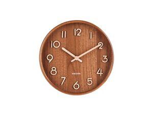 Karlsson-Pure-Wall-Clock-Dark-Wood-Small-22cm