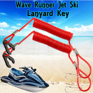 Details about 2PCS Yamaha PWC Jet Ski Wave Runner Stop Kill Key Floating  Safety Lanyard Neon